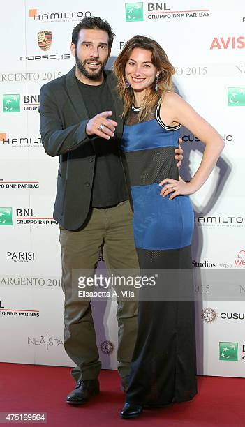 Edoardo Leo and wife Laura Marafioti attend '2015 Nastro D'Argento Award' Nominees Announcement at Maxxi Museum on May 29 2015 in Rome Italy