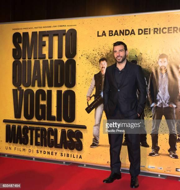 Edoardo Leo attends a Red Carpet for 'Smetto quando voglio Masterclass'