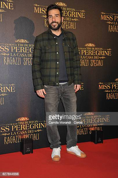 Edoardo Leo attends Burton's 'Miss Peregrine's Home for Peculiar Children' Premiere In Rome on December 5 2016 in Rome Italy