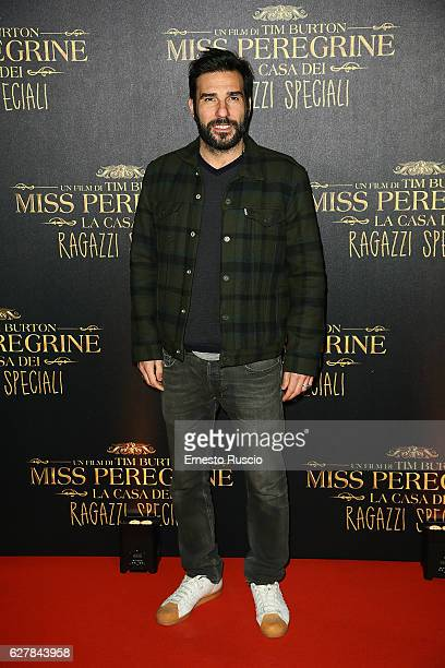 Edoardo Leo walks the red carpet for Tim Burton's 'Miss Peregrine's Home for Peculiar Children' on December 5 2016 in Rome Italy