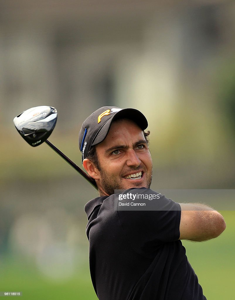 Edoardo Molinari of Italy drives at the 18th hole during the completion of the final round of the Arnold Palmer Invitational presented by Mastercard at the Bayhill Club and Lodge, on March 29, 2010 in Orlando, Florida.