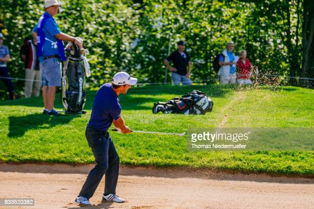 Edoardo Molinari of Italy is seen at day one of the Saltire Energy Paul Lawrie Matchplay at Golf Resort Bad Griesbach on August 17 2017 in Passau...