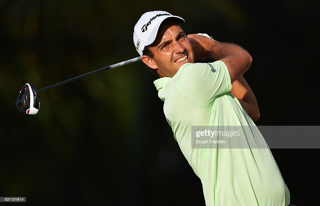 Edoardo Molinari of Italy plays a shot during the second round of AfrAsia Bank Mauritius Open at Four Seasons Golf Club Mauritius at Anahita on May 13, 2016 in Poste de Flacq, Mauritius.
