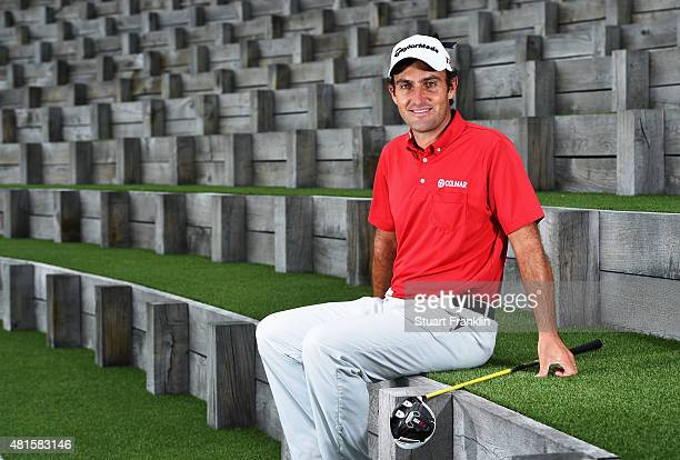Edoardo Molinari of Italy poses for a picture prior to the start of the Omega European Masters at CranssurSierre Golf Club on July 22 2015 in...