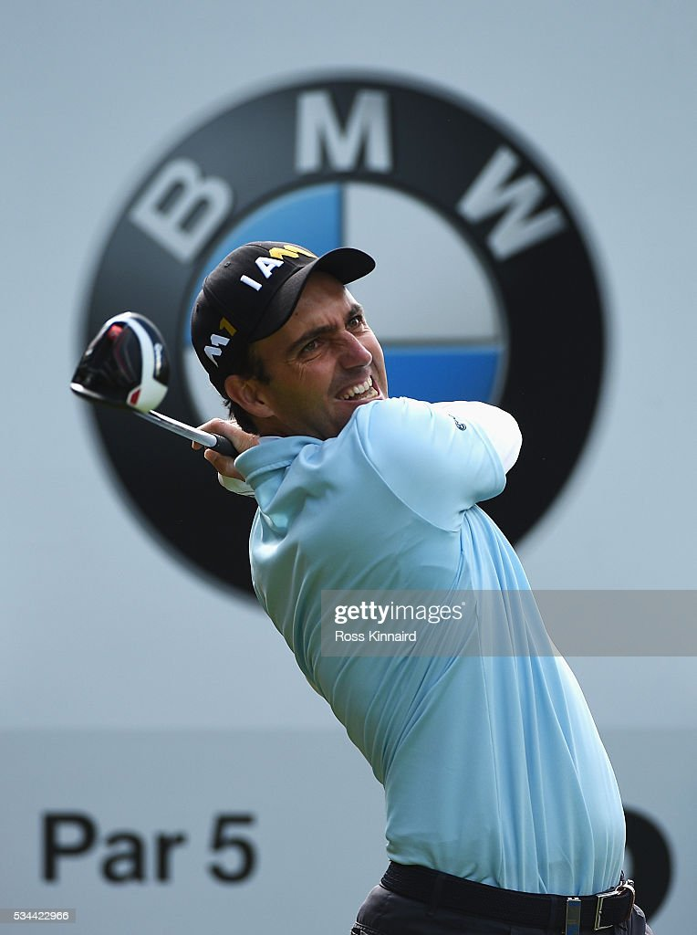 <a gi-track='captionPersonalityLinkClicked' href=/galleries/search?phrase=Edoardo+Molinari&family=editorial&specificpeople=556368 ng-click='$event.stopPropagation()'>Edoardo Molinari</a> of Italy tees off on the 12th hole during day one of the BMW PGA Championship at Wentworth on May 26, 2016 in Virginia Water, England.
