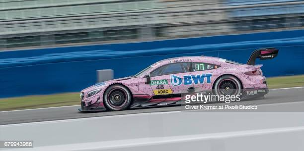 Edoardo Mortara of MercedesAMG DTM Team HWA during the DTM free practice session 3 at the Hockenheimring on Day 2 of the DTM German Touring Car...