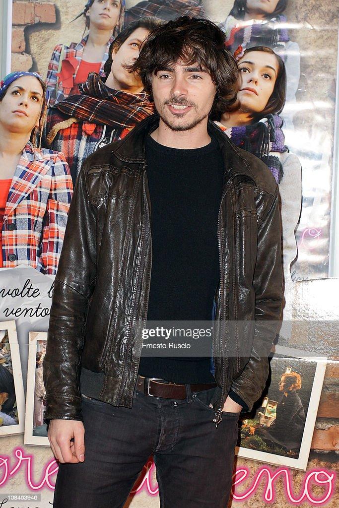 Edoardo Natoli attends the 'Febbre Da Fieno' premiere at Emassy Cinema on January 27, 2011 in Rome, Italy.