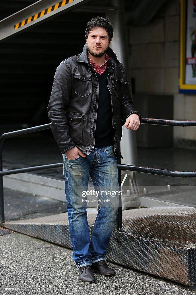 Edoardo Pesce attends the 'Ameriqua' photocall at UCI Cinemas Marconi on March 7, 2013 in Rome, Italy.