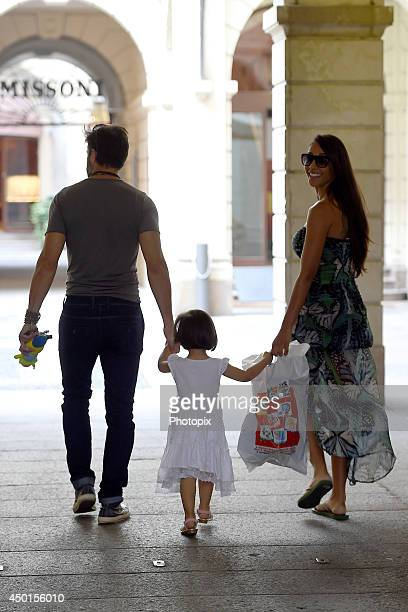 Edoardo Stoppa Juliana Moreira and their daughter Sophie are seen on June 5 2014 in Milan Italy