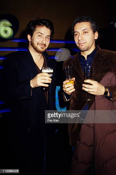 Edouard Baer and Atmen Kelif during 'A Boire' Premiere Cocktail Party at UGC Les Halles Cinema in Paris France