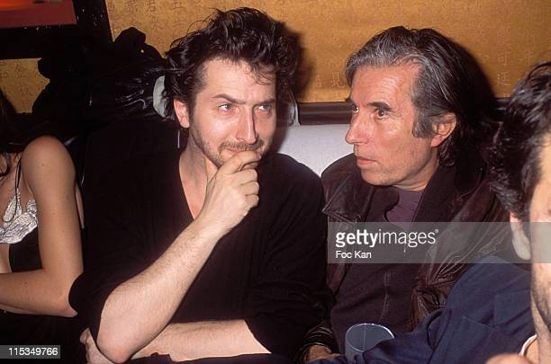 Edouard Baer and Jacques Doillon during Marilyn Agency and Lemire Birthday Party at Man Ray Club in Paris France