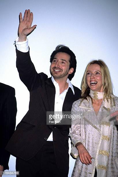 Edouard Baer and Lea Drucker during 'Les Brigades du Tigre' Paris Premiere at Cinema UGC Bercy in Paris France