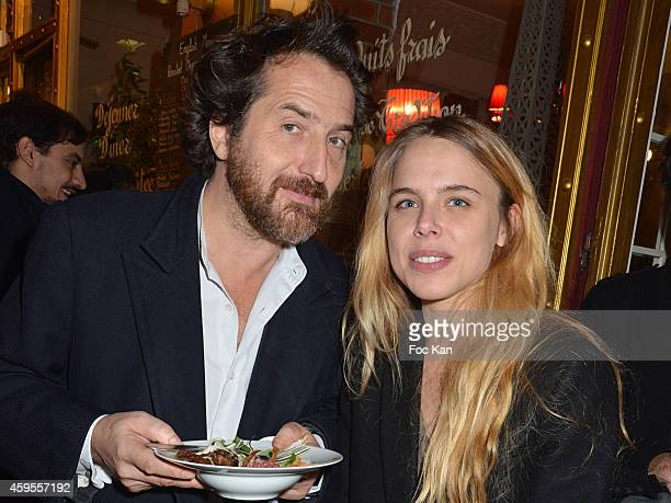 Edouard Baer and Marine Bidaud from the Fooding attend the 'Les Fooding 2015' Ceremony Cocktail at Passage Panorama on November 24 2014 in Paris...