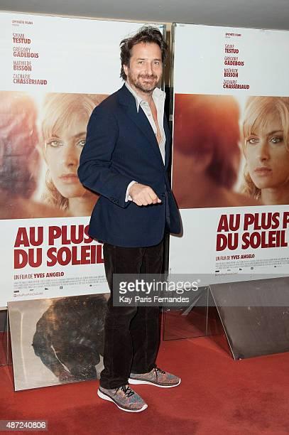 Edouard Baer attends the 'Au Plus Pres du Soleil' Paris Premiere at UGC Cine Cite des Halles on September 7 2015 in Paris France