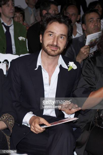 Edouard Baer during the Christian Lacroix Fashion Show as part of the Paris Haute Couture Fashion Week Fall/Winter 2008 on July 3 2007 in Paris France