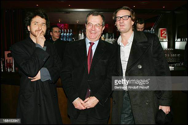 Edouard Baer Marc Tessier and Frederic Beigbeder at 100th Episode Of 'Campus' Of Guillaume Durant At Le Cafe De L'Homme Restaurant At The Trocadero