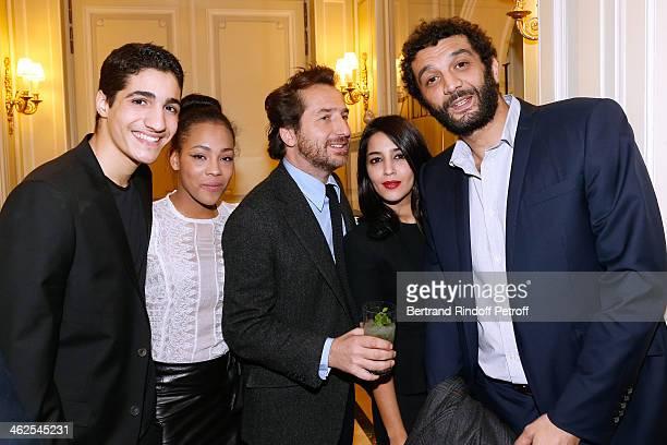 Edouard Baer with actor Zinedine Benchenine sponsored by humorist Ramzy Bedia for the movie 'Vandal' with actress Chloe Lecerf sponsored by actress...