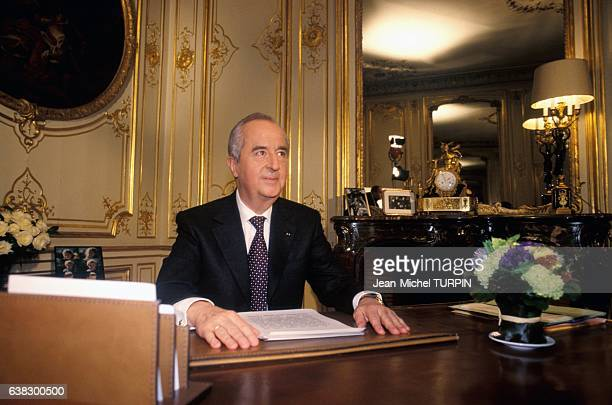 Edouard Balladur candidate for presidential election in France on January 18 1995