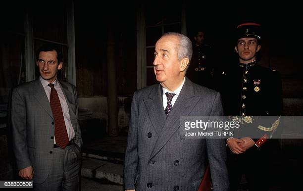 Edouard Balladur candidate for presidential election in Paris France on January 18 1995