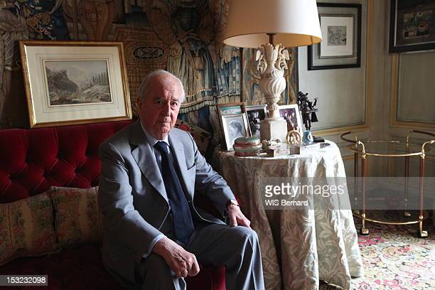 Edouard Balladur former French Pirme Minister in his apartment for the release of his new book La liberté atelle un avenir in Paris september 122012