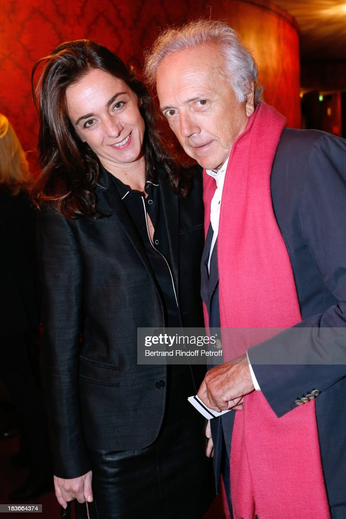 Edouard Carmignac and Guest attending 'La Dame De La Mer' : Gala play to benefit Care Humanitarian Organization, held in Montparnasse Theater in Paris on October 8, 2013 in Paris, France.