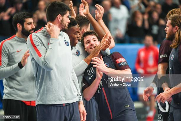 Edouard Kempf of PSG during the Champions League match between Paris Saint Germain and Veszprem on November 12 2017 in Paris France