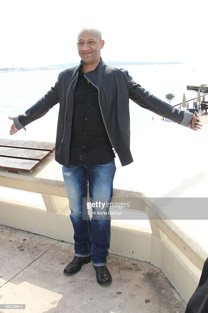 Edouard Montoute attends 'La Source' Photocall on the Croisette during the 50th MIPTV on April 8, 2013 in Cannes, France.