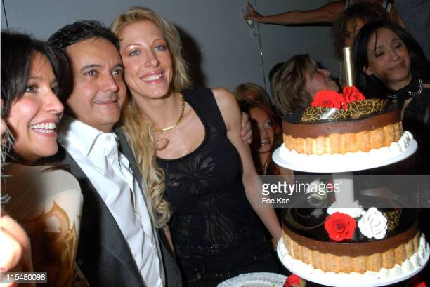 Edouard Nahum Loana and guests during Edouard Nahum's Birthday Party at the VIP Room in St Tropez March 8 2007 at VIP Room in St Tropez France