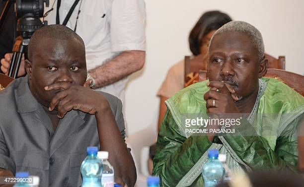Edouard Ngaissona national coordinator of 'antibalaka' groups in Central African Republic and Mohamed Moussa Dhaffane a leader of the exSeleka rebel...