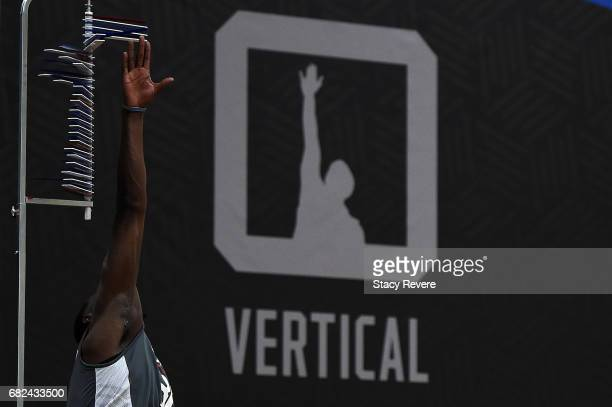 Edrice Adebayo participates in drills during Day Two of the NBA Draft Combine at Quest MultiSport Complex on May 12 2017 in Chicago Illinois NOTE TO...