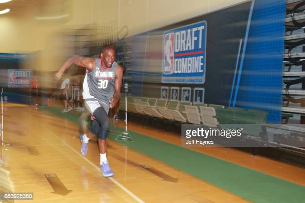 Edrice Adebayo runs the three quarter court sprint during the NBA Draft Combine Day 2 at the Quest Multisport Center on May 12 2017 in Chicago...