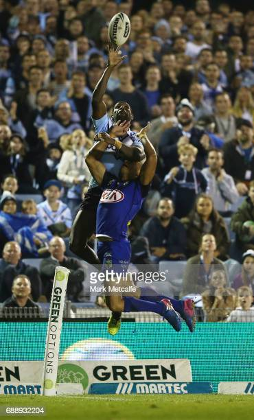 Edrick Lee of the Sharks wins a high ball during the round 12 NRL match between the Cronulla Sharks and the Canterbury Bulldogs at Southern Cross...
