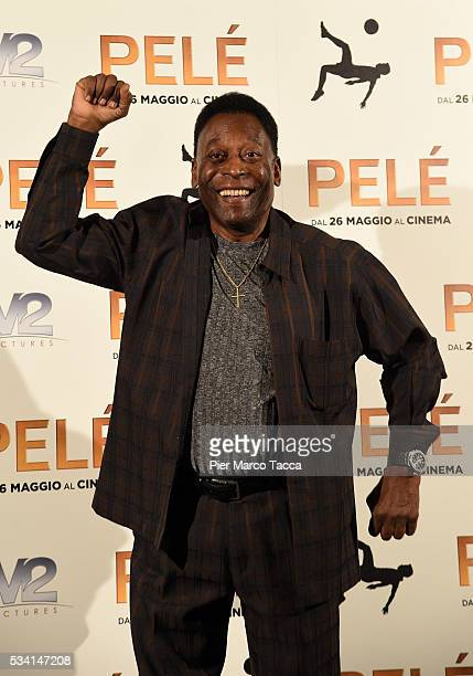Edson Arantes do Nascimento aka Pele attends the 'Pele' photocall on May 25 2016 in Milan Italy