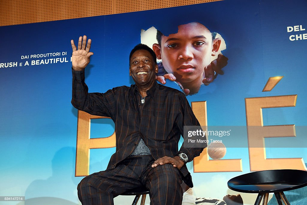 Edson Arantes do Nascimento aka Pele attends the 'Pele' photocall on May 25, 2016 in Milan, Italy.