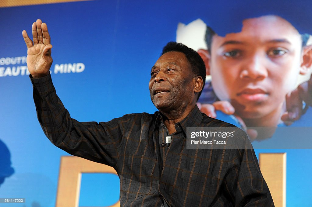 Edson Arantes do Nascimento aka Pele attends the 'Pele' photocall on May 25, 2016 in Milan, Italy.