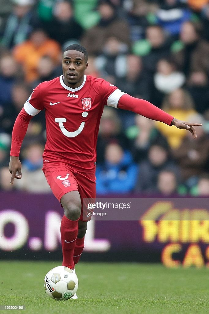 Edson Braafheid of FC Twente during the Dutch Eredivisie match between FC Groningen and FC Twente at the Euroborg Stadium on march 17, 2013 in Groningen, The Netherlands