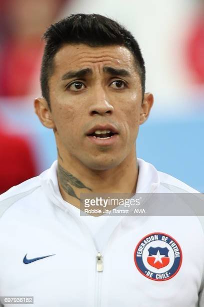 Edson Puch of Chile during the FIFA Confederations Cup Russia 2017 Group B match between Cameroon and Chile at Spartak Stadium on June 18 2017 in...