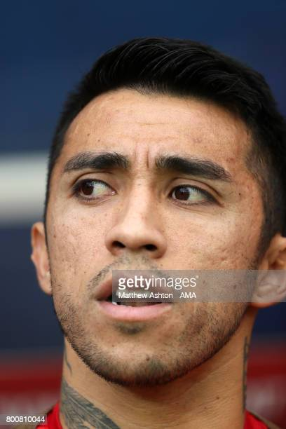 Edson Puch of Chile during the FIFA Confederations Cup Russia 2017 Group B match between Chile and Australia at Spartak Stadium on June 25 2017 in...
