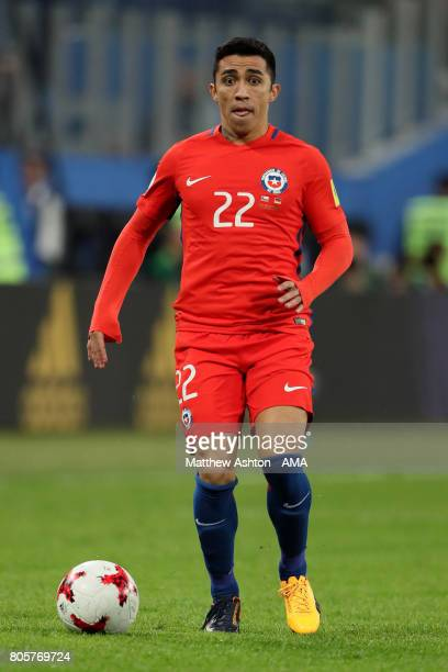 Edson Puch of Chile in action during the FIFA Confederations Cup Russia 2017 Final match between Chile and Germany at Saint Petersburg Stadium on...