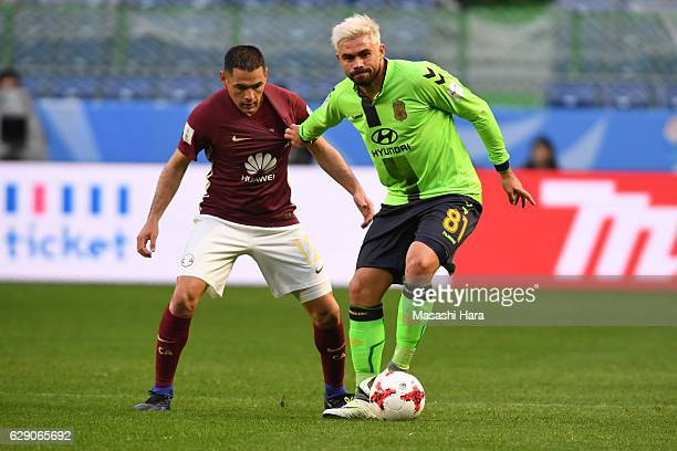 Edu of Jeonbuk Hyundai Motors in action during the FIFA Club World Cup quarter final match between Jeonbuk Hyundai Motors and Club America at Suita...