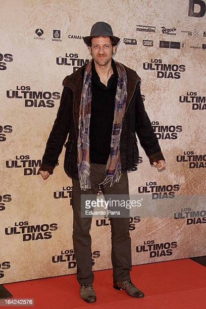 Edu Soto attends 'Los Ultimos Dias' premiere photocall at Capitol cinema on March 21 2013 in Madrid Spain