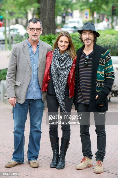 Eduard Cortes actress Amaia Salamanca and Oscar Jaenada attend 'Atraco' photocal at Proyecciones Cinema on October 16 2012 in Madrid Spain