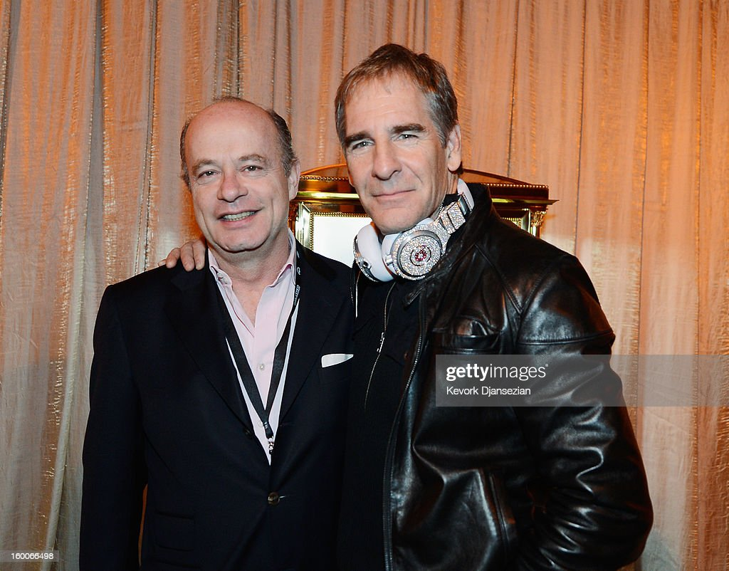 Eduard E. van der Geest (L) director of sales at Graff Diamonds and SAG Awards Committee member actor <a gi-track='captionPersonalityLinkClicked' href=/galleries/search?phrase=Scott+Bakula&family=editorial&specificpeople=217589 ng-click='$event.stopPropagation()'>Scott Bakula</a> during the 19th Annual Screen Actor Guild Awards ceremony behind the scenes event at The Shrine Auditorium on January 25, 2013 in Los Angeles, California.