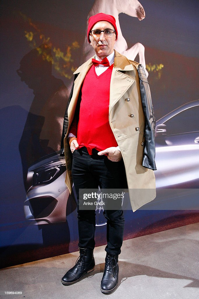 Eduard Howhannisjan attends Mercedes-Benz Fashion Week Autumn/Winter 2013/14 at the Brandenburg Gate on January 18, 2013 in Berlin, Germany.