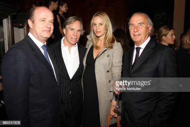 Eduard van der Geest Tommy Hilfiger Dee Ocleppo and Michel Pitteloud attend The Private Unveiling of GRAFF Time Watch Collection 1 at Graff on June...