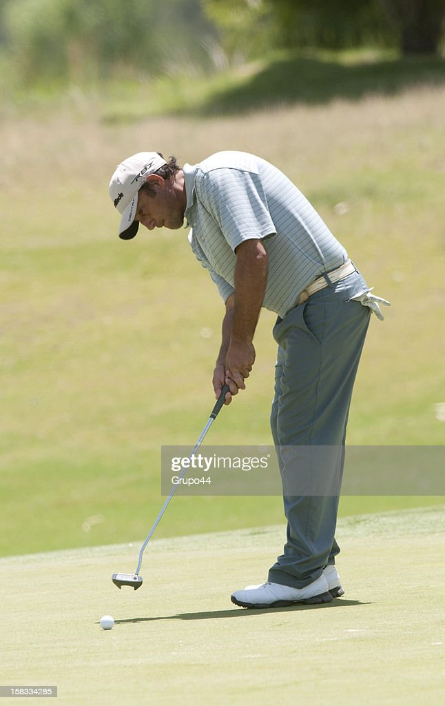 Eduardo Argiro makes a putt during the opening day of the 107 Visa Golf Open presented by Peugeot as part of the PGA Latin America at Nordelta Golf Club on December 13, 2012 in Buenos Aires, Argentina.