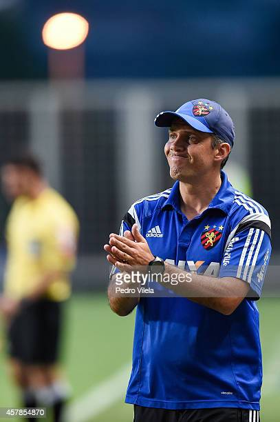 Eduardo Baptista coach of Sport Recife a match between Atletico MG and Sport Recife as part of Brasileirao Series A 2014 at Independencia stadium on...