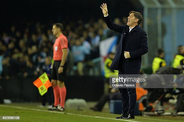 Eduardo Berizzo head coach of Celta de Vigo during the Copa del Rey quarterfinal second leg match between Real Club Celta de Vigo and Real Madrid...