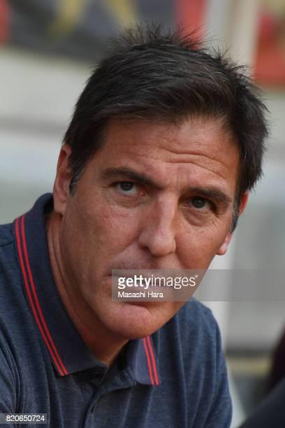 Eduardo Berizzocoach of Sevilla FC looks on prior to the preseason friendly match between Kashima Antlers and Sevilla FC at Kashima Soccer Stadium on...