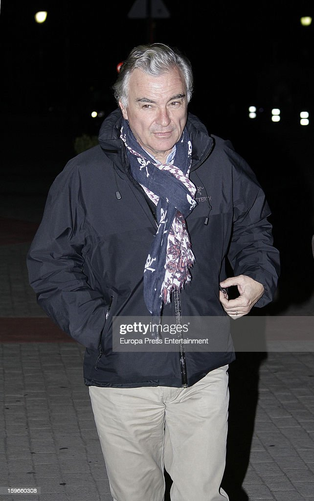 Eduardo Campoy attends the funeral chapel for actor Fernando Guillen at Tres Cantos Chapel on January 17, 2013 in Madrid, Spain.